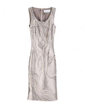 Платье до колена GAI MATTIOLO. Цвет: голубиный серый