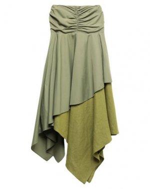 Длинная юбка LOEWE. Цвет: зеленый-милитари