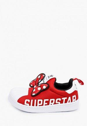 Слипоны adidas Originals SUPERSTAR 360 X C. Цвет: красный