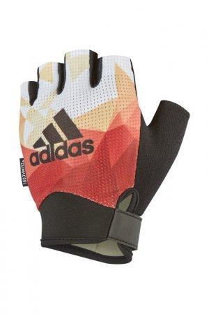 Перчатки для фитнеса adidas. Цвет: оранжевый