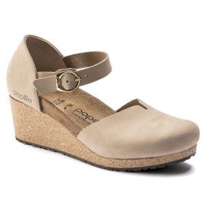 Туфли Mary нубук Birkenstock. Цвет: бежевый