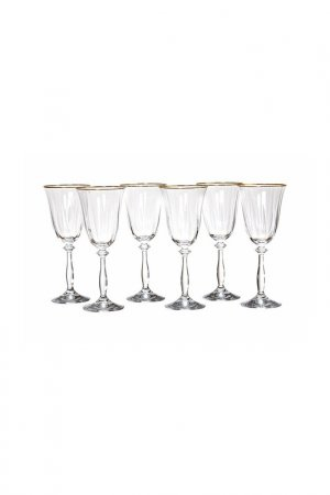 Бокал для вина, 6 шт BOHEMIA CRYSTAL. Цвет: оптика, отводка, золотой