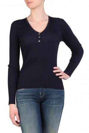 Синий пуловер с пуговицами Tommy Hilfiger