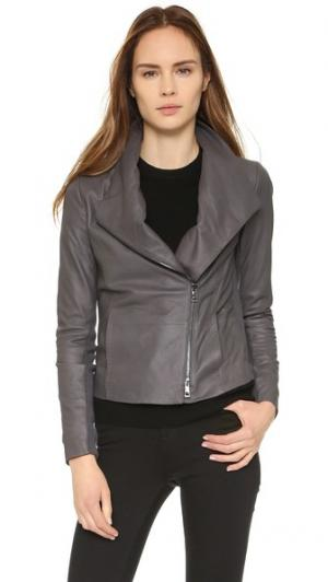 Кожаная куртка Scuba Vince. Цвет: темно-серый