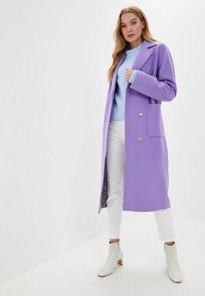 Пальто Karolina. Цвет: фиолетовый