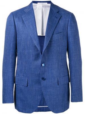 Пиджак с застежкой на три пуговицы Cesare Attolini. Цвет: синий