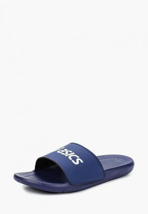 Сланцы ASICS AS003. Цвет: синий
