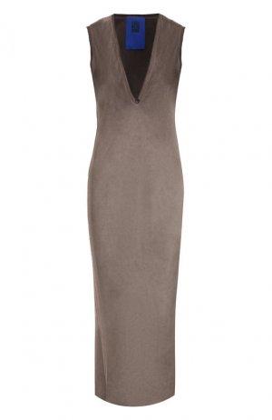 Платье из вискозы Roque. Цвет: серый