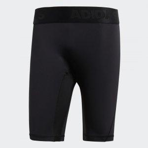 Укороченные леггинсы Alphaskin Performance adidas. Цвет: черный