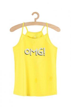 Майка для девочек 5.10.15.. Цвет: желтый