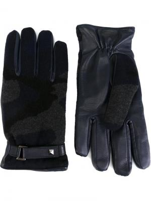 Перчатки Valentino. Цвет: синий