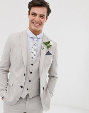 Приталенный льняной пиджак wedding-Серый French Connection