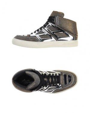 Высокие кеды и кроссовки ALEJANDRO INGELMO. Цвет: платиновый