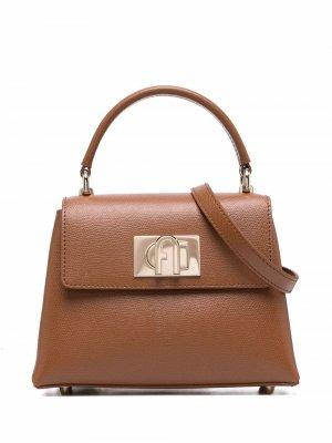 1927 leather tote bag Furla. Цвет: коричневый