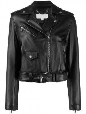 Байкерская куртка на молнии Michael Kors. Цвет: черный