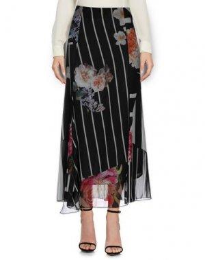 Длинная юбка DANIELA DREI. Цвет: черный