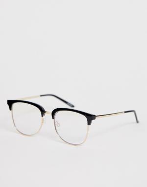 Квадратные очки с черной оправой evasive-Черный Quay Australia
