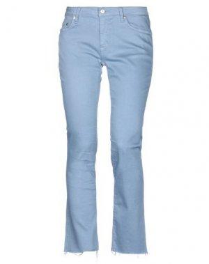 Джинсовые брюки (+) PEOPLE. Цвет: грифельно-синий