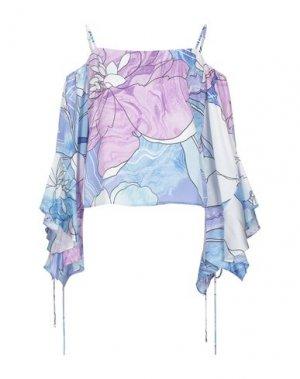 Блузка MARCIANO. Цвет: небесно-голубой