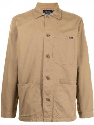 Куртка с воротником Polo Ralph Lauren. Цвет: коричневый
