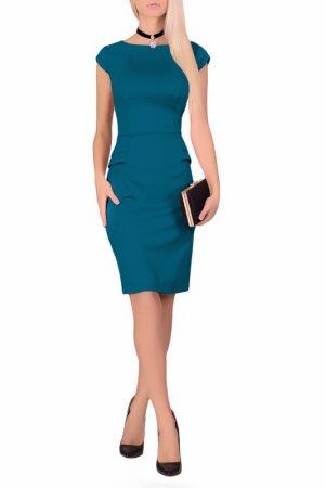 Платье FABIEN DE FERANTE. Цвет: изумрудный