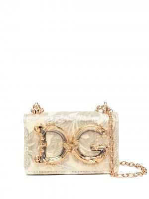 Мини-сумка DG Girls Dolce & Gabbana. Цвет: желтый