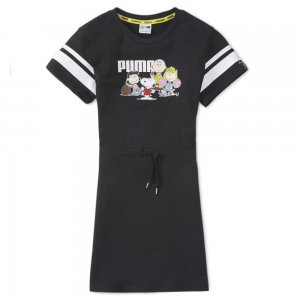 Детское платье x PEANUTS Kids Dress PUMA. Цвет: черный