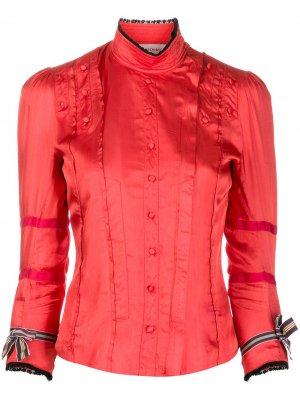 Приталенная рубашка на пуговицах A.F.Vandevorst. Цвет: красный