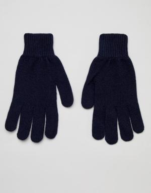 Темно-синие кашемировые перчатки Paul Smith. Цвет: темно-синий
