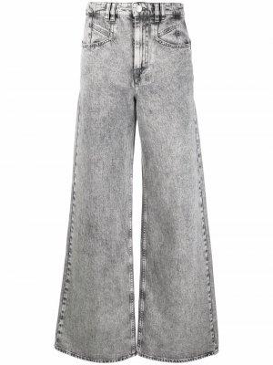 Широкие джинсы с завышенной талией Isabel Marant. Цвет: серый