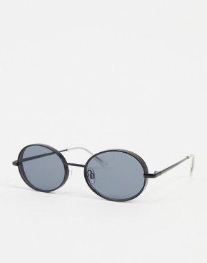 Черные овальные солнцезащитные очки -Черный цвет Jack & Jones
