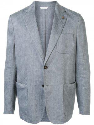 Пиджак с накладными карманами Colombo. Цвет: серый