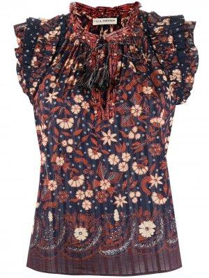 Топ Iris с цветочным принтом Ulla Johnson. Цвет: черный