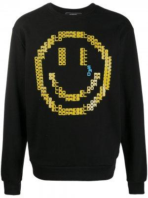 Толстовка Sad Emoji DOMREBEL. Цвет: черный