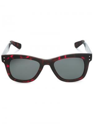 Солнцезащитные очки в квадратной оправе Komono. Цвет: красный