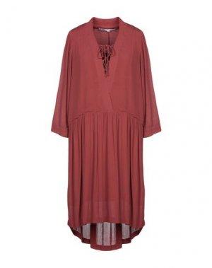 Платье до колена JUST FEMALE. Цвет: коричневый