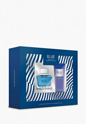 Набор парфюмерный Antonio Banderas Blue Seduction Men Туалетная вода 50 мл+бальзам после бритья 75 мл. Цвет: прозрачный