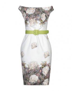 Короткое платье CASTING. Цвет: слоновая кость