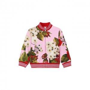 Хлопковая толстовка Dolce & Gabbana. Цвет: розовый