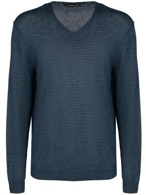 Льняной пуловер MICHAEL KORS. Цвет: синий
