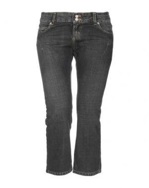 Джинсовые брюки-капри DKNY. Цвет: свинцово-серый