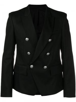 Куртка в стиле милитари Balmain. Цвет: черный