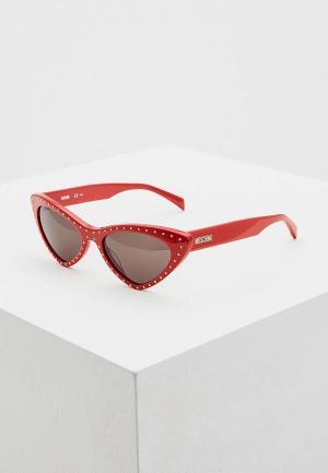 Очки солнцезащитные Moschino MOS006/S C9A. Цвет: красный