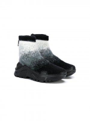 Кроссовки-носки Cinzia Araia Kids. Цвет: серый