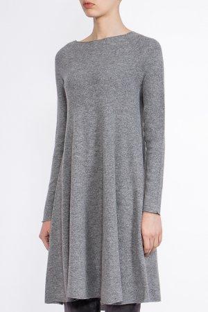 Серое трикотажное платье BILANCIONI. Цвет: серый