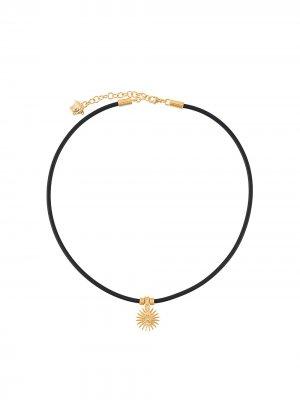 Колье с декором Medusa Versace. Цвет: черный