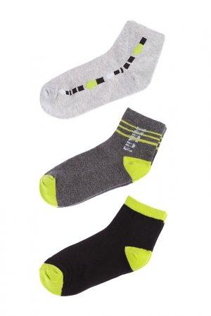 Носки, 3 шт 5.10.15.. Цвет: серый
