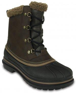 Ботинки мужские CROCS Men's AllCast II Boot Espresso/Black (Коричневый/Черный) арт. 203394. Цвет: коричневый/черный