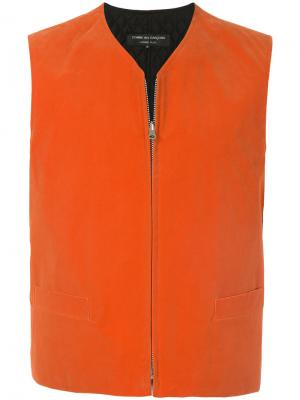 Жилет без рукавов на молнии Comme Des Garçons Vintage. Цвет: оранжевый