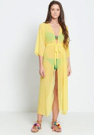 Платье пляжное Donatello Viorano Миконос. Цвет: желтый